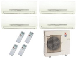 Mitsubishi Quad Zone MXZ4C36NA MSZFH09NA8 (THREE) MSZFH18NA (one) I See Sensor ductless split
