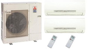 Mitsubishi DUAL Zone MXZ4C36NA MSZFH18NA (TWO) Hyper Heat Ductless Split System