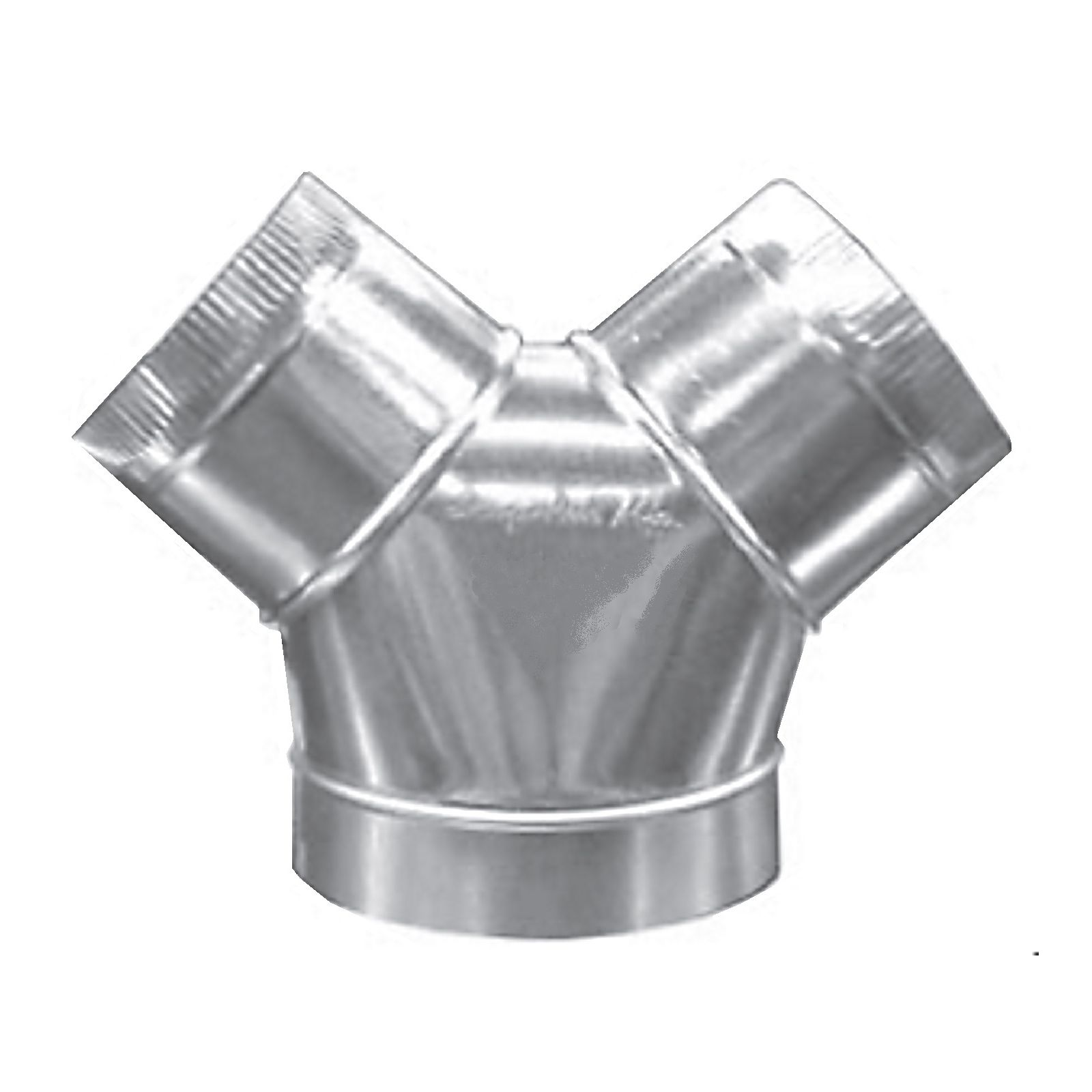 "Snap-Rite 06X4X4-307ECC - BullNose Wye, With 4"" Extension Collar, Crimp 2 Small Ends, 06"" X 04"" X 04"""