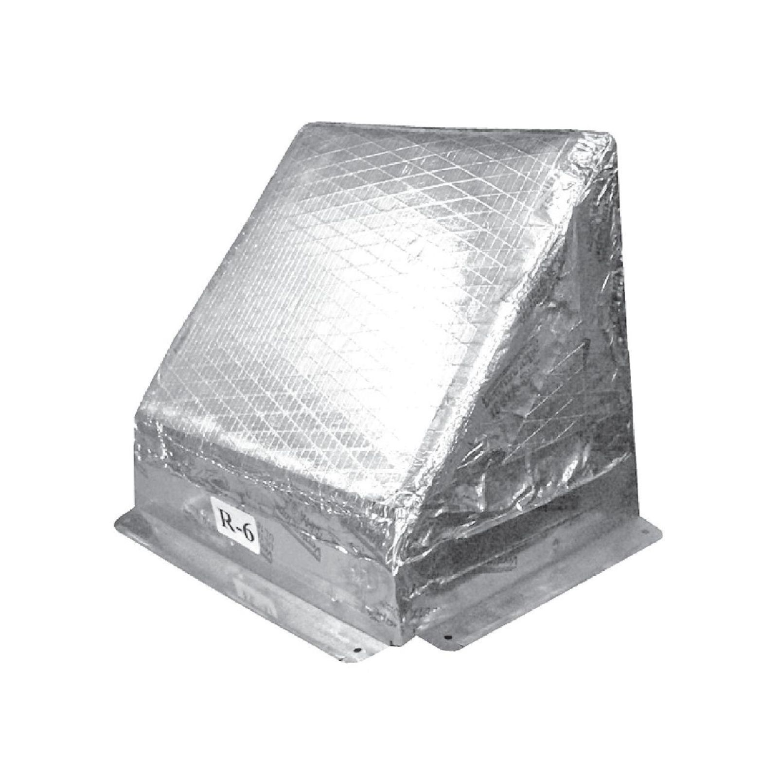 "Snap-Rite 10X06-3800FS - Foil Top Insulated 45 Degree Slant Register Box With Flange, 10"" x 06"" - R6"