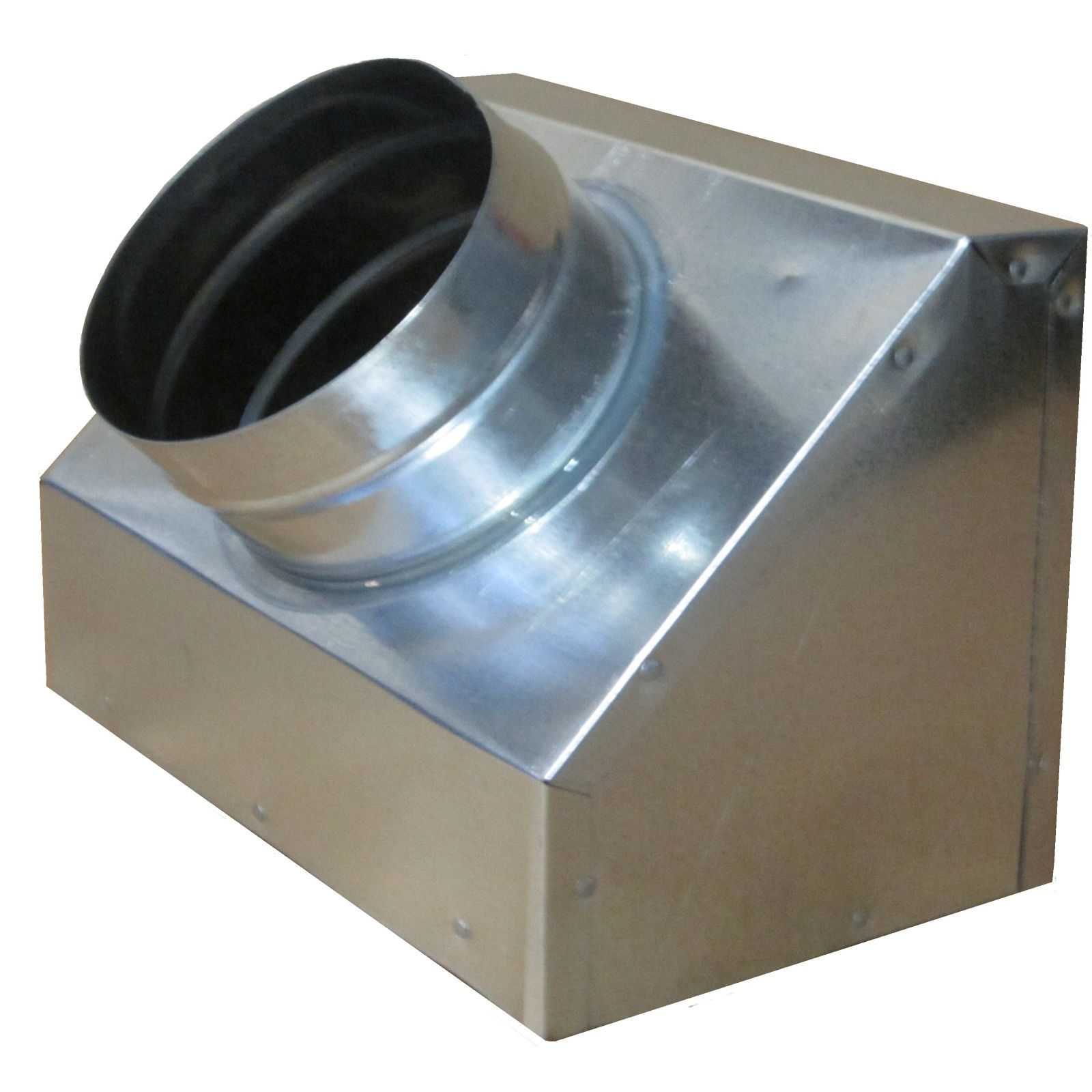 "Snap-Rite 10X06X063600NFS - Metal Top Insulated Slant Register Box No Flange, 10"" x 06"" x 06"" - R6"