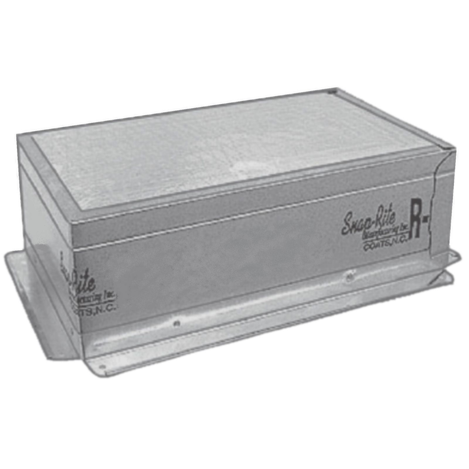 "Snap-Rite 12X06-3800F - Foil Top Insulated Register Box With Flange, 12"" x 06"" - R6"