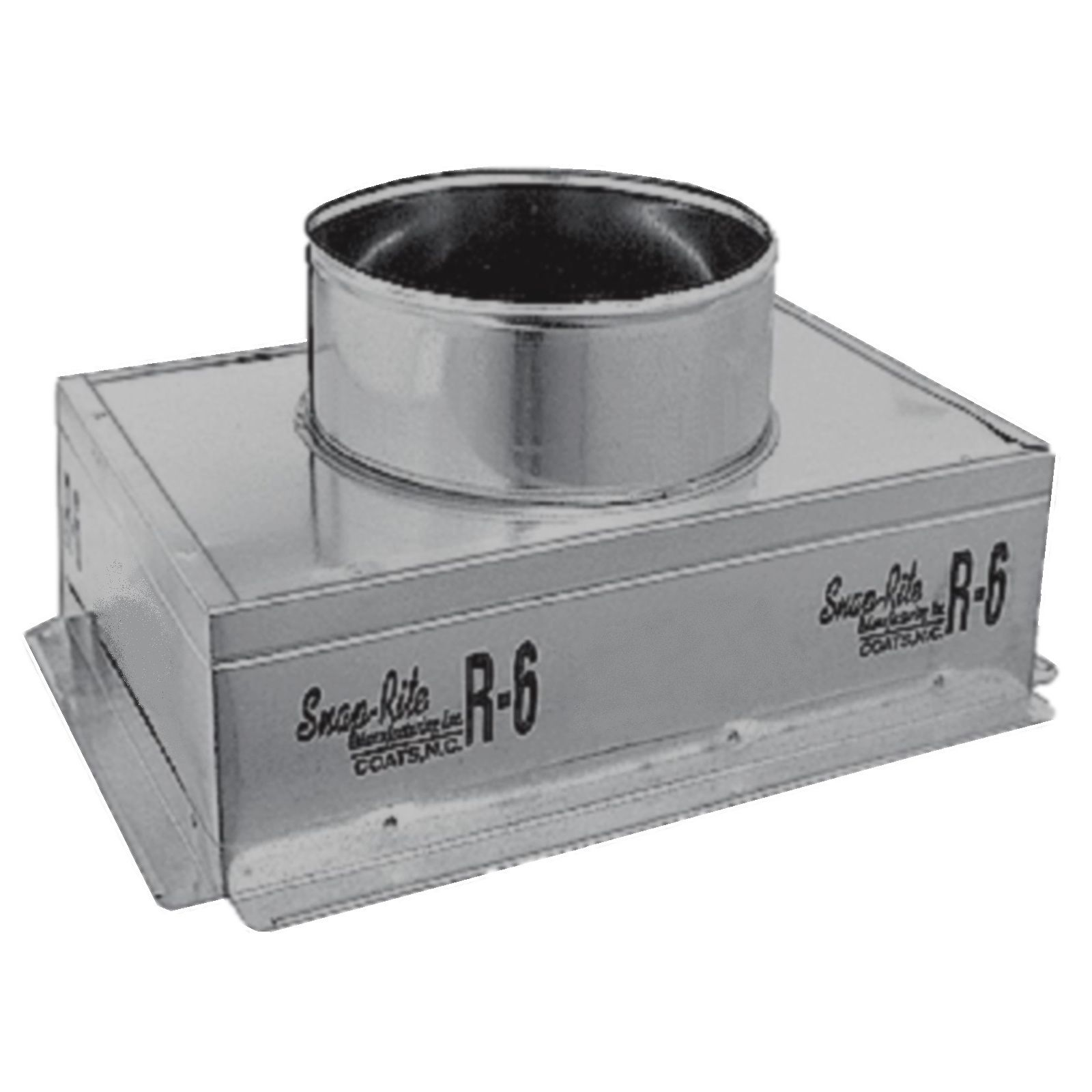 "Snap-Rite 12X06X083600F - Metal Top Insulated Register Box With Flange, 12"" x 06"" x 08"" - R6"