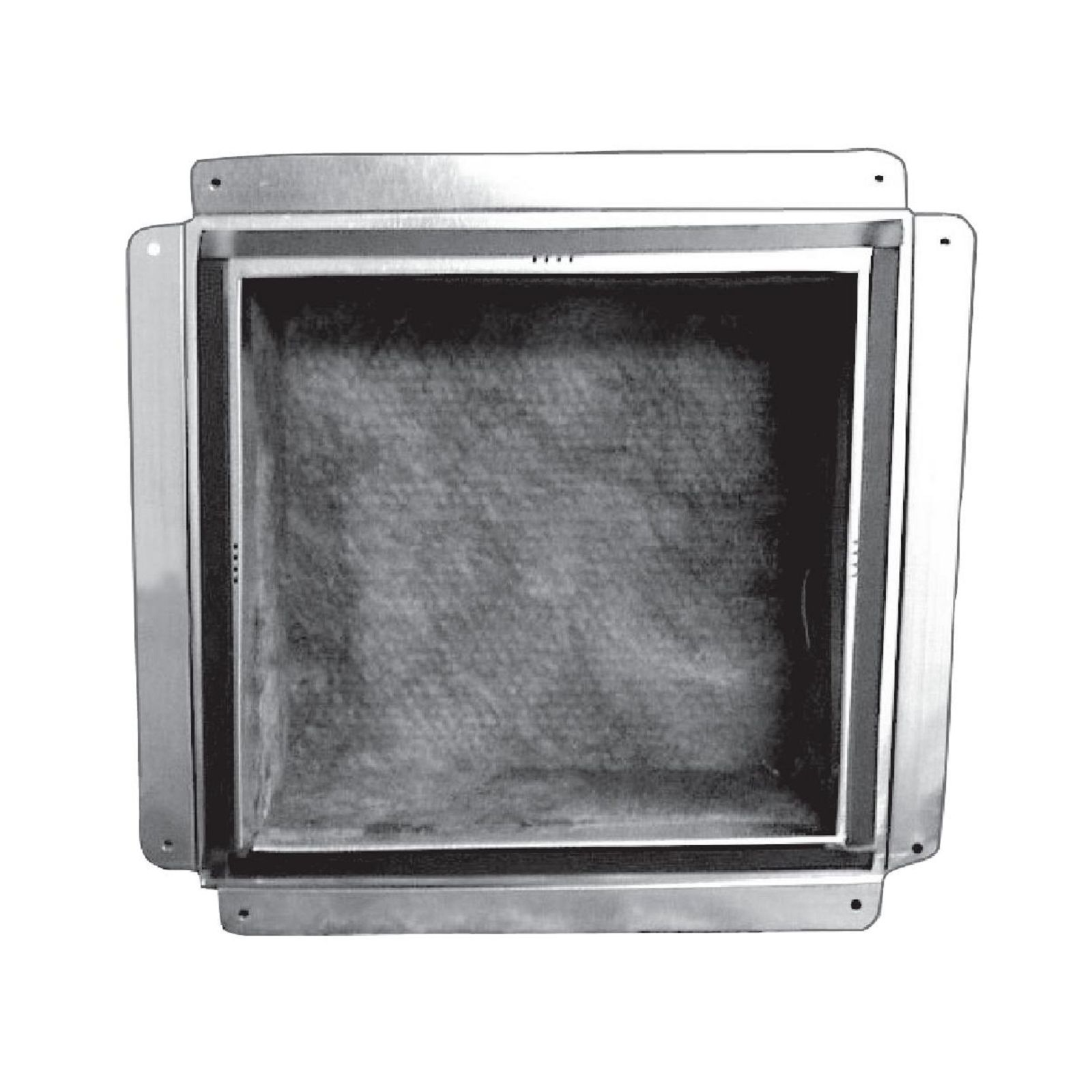 "Snap-Rite 16X16-3800FG - Foil Top Insulated Register Box With Flange and Gasket, 16"" x 16"" - R6"