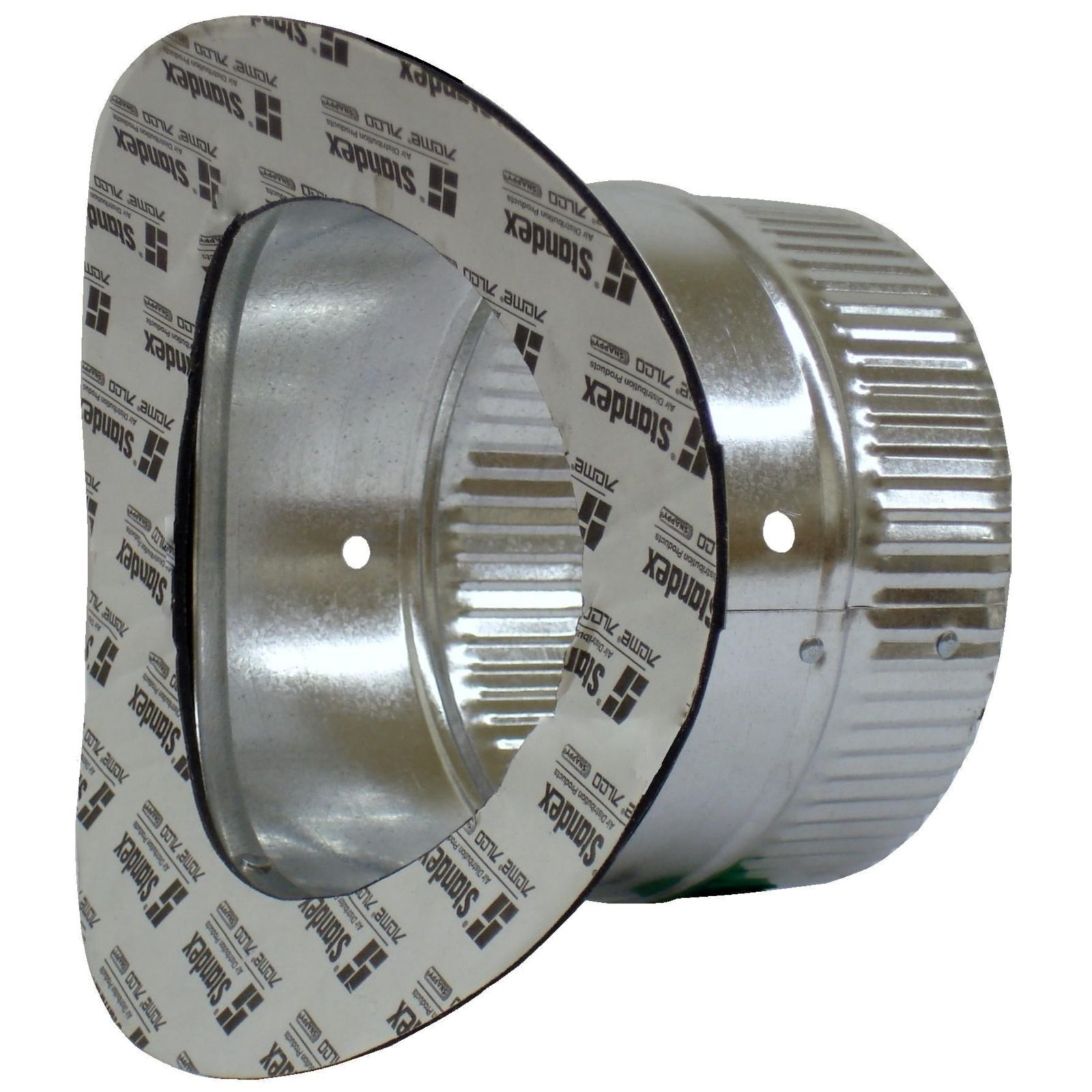 "Snappy 171-8 - #171 - Round Adhesive Takeoff, 6"" Tube Length, 1 1/2"" Flange, for 8"" Round Pipe, 26 Gauge"