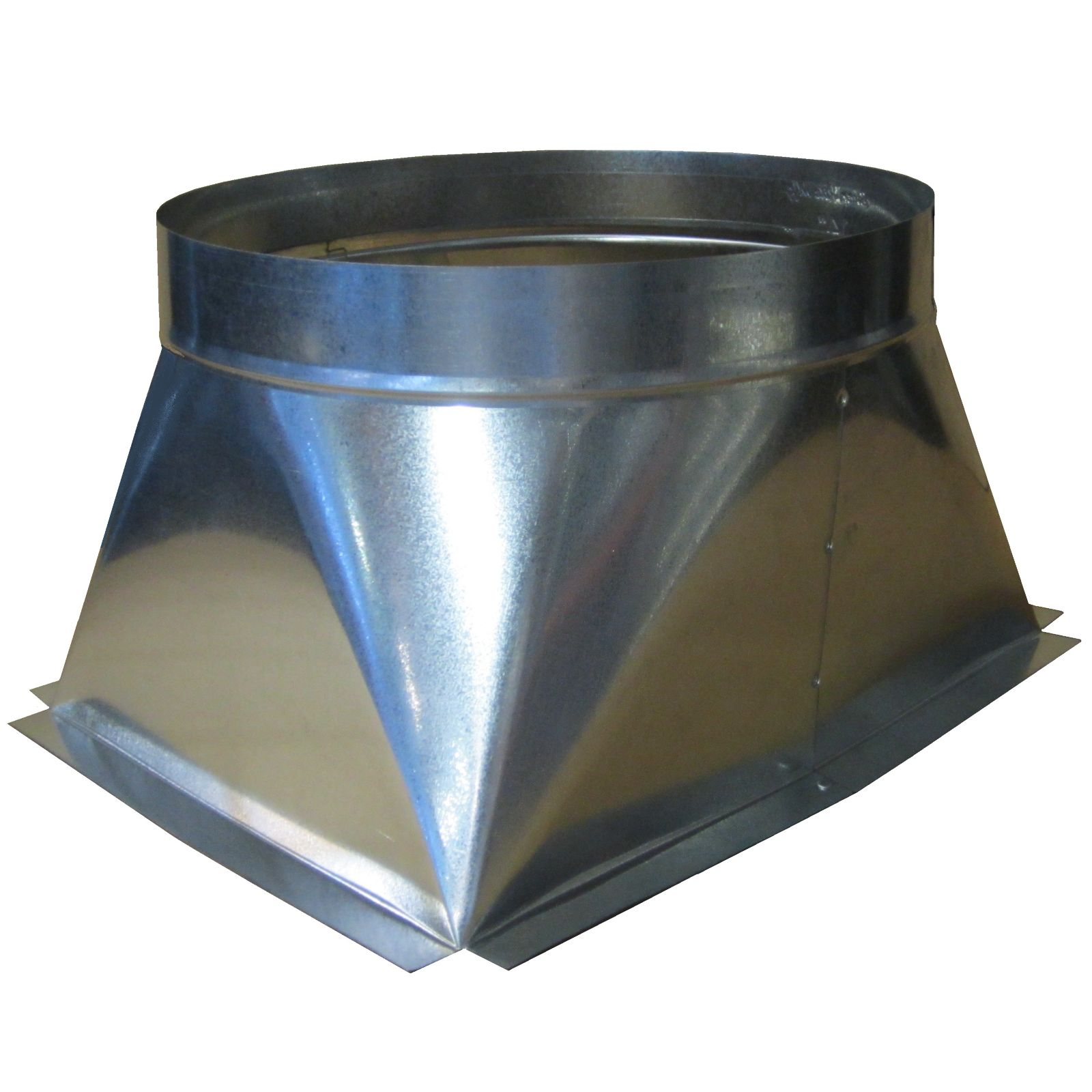 "Snap-Rite 20X20687518331F - Square to Round Transition, 20"" x 20 11/16"" x 18"" with 1/2"" Flange"