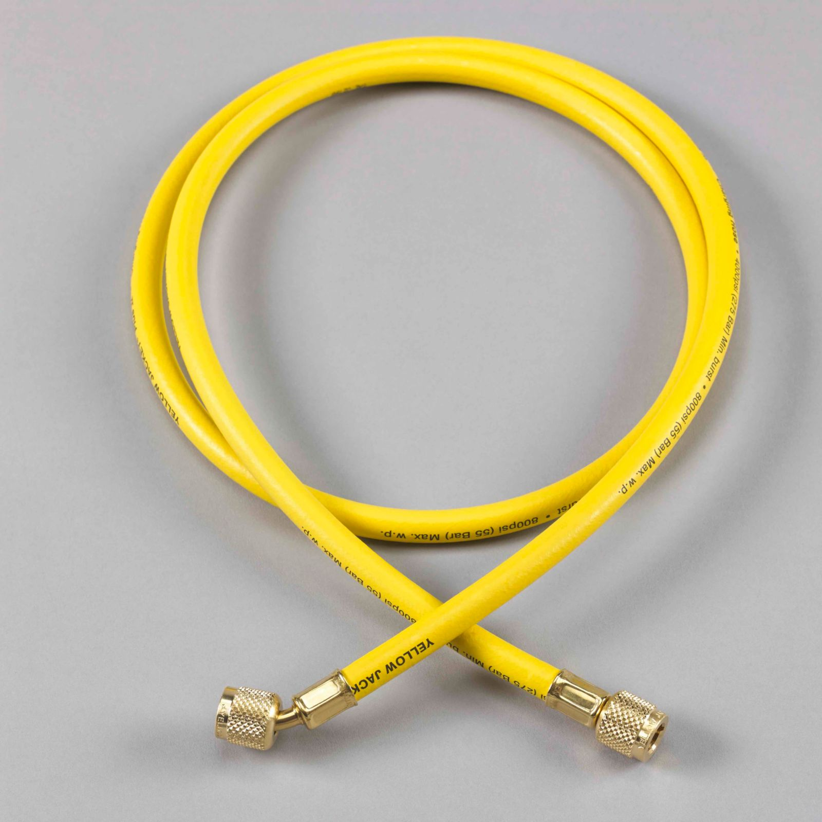 "Yellow Jacket 21048 - Plus II Yellow Charging Hose with Double Barrier Protection 1/4"" X 4'"