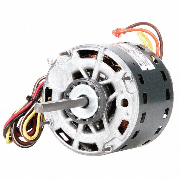 GENTEQ 1/4 HP Direct Drive Blower Motor, Permanent Split Capacitor, 1075 Nameplate RPM, 208-230 Voltage