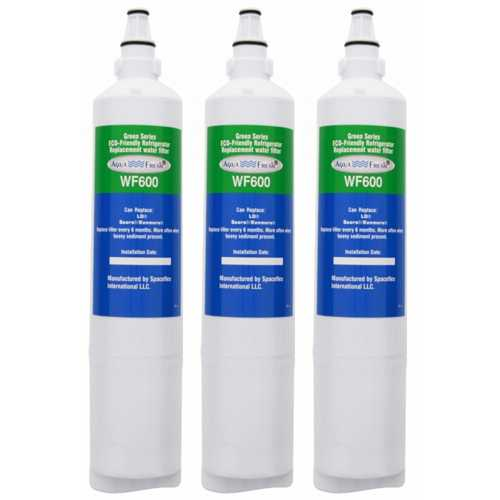 Aqua Fresh Replacement Water Filter Cartridge For Kenmore 74015 Refrigerators - 3 Pack