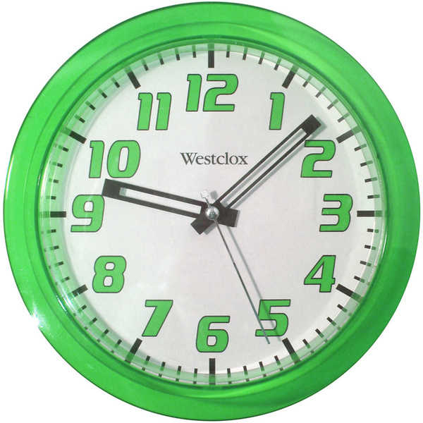 Westclox 7.75-inch Green Translucent Wall Clock