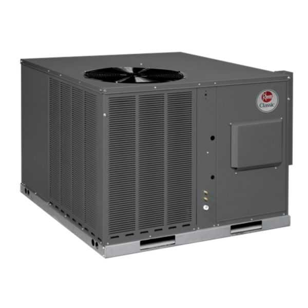 Rheem RGEA15030AJT081AAAJA - Classic 2 1/2 Ton 15 SEER Packaged Gas/Electric Unit Stainless Steel Heat Exchanger 208-230/1/60