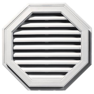 27 in. Octagon Gable Vent #117 Bright White