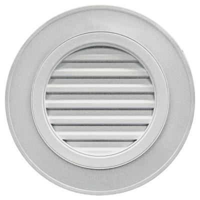 28 in. Round Gable Vent in Paintable (without Keystones)