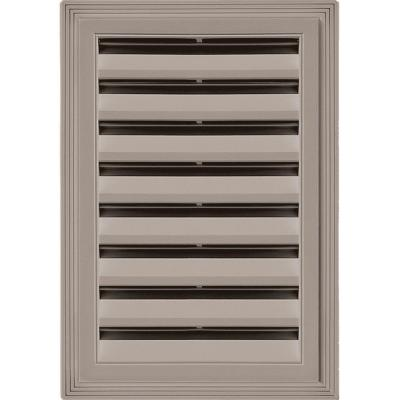 12 in. x 18 in. Rectangle Gable Vent #008 Clay