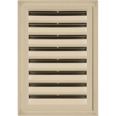 12 in. x 18 in. Rectangle Gable Vent #013 Light Almond