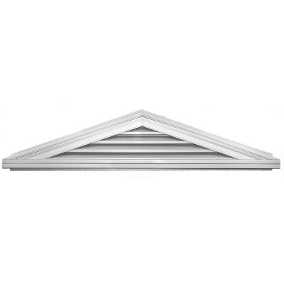 4/12 Triangle Gable Vent #001 White