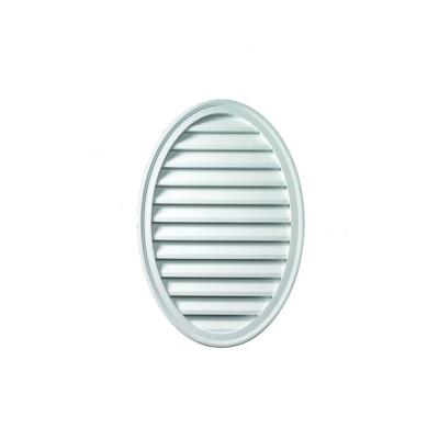24-1/2 in. x 37 in. x 1-5/8 in. Polyurethane Functional Oval Vertical Louver Gable Vent