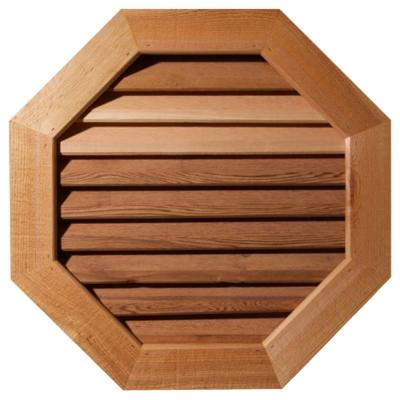 27 in. x 27 in. Smooth Western Red Cedar Functional Gable Vent w/ Face Frame Unfinished (22 in. x 22 in. Rough Opening)