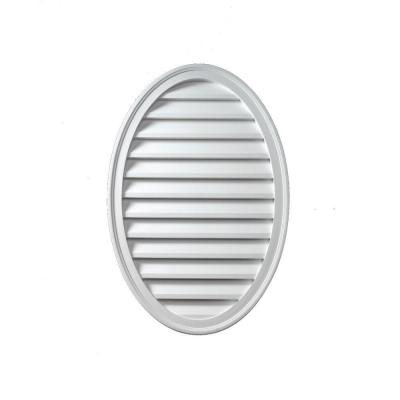 12 in. x 24 in. x 1-5/8 in. Polyurethane Decorative Oval Vertical Louver
