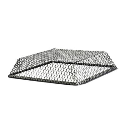 VentGuard 25 in. x 25 in. x 6 in. Roof Wildlife Exclusion Screen in Galvanized Black